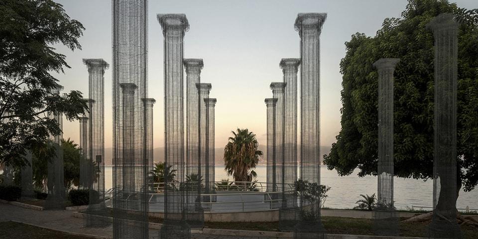 Edoardo Tresoldi Installs Massive Wire-Mesh Structure in Italy