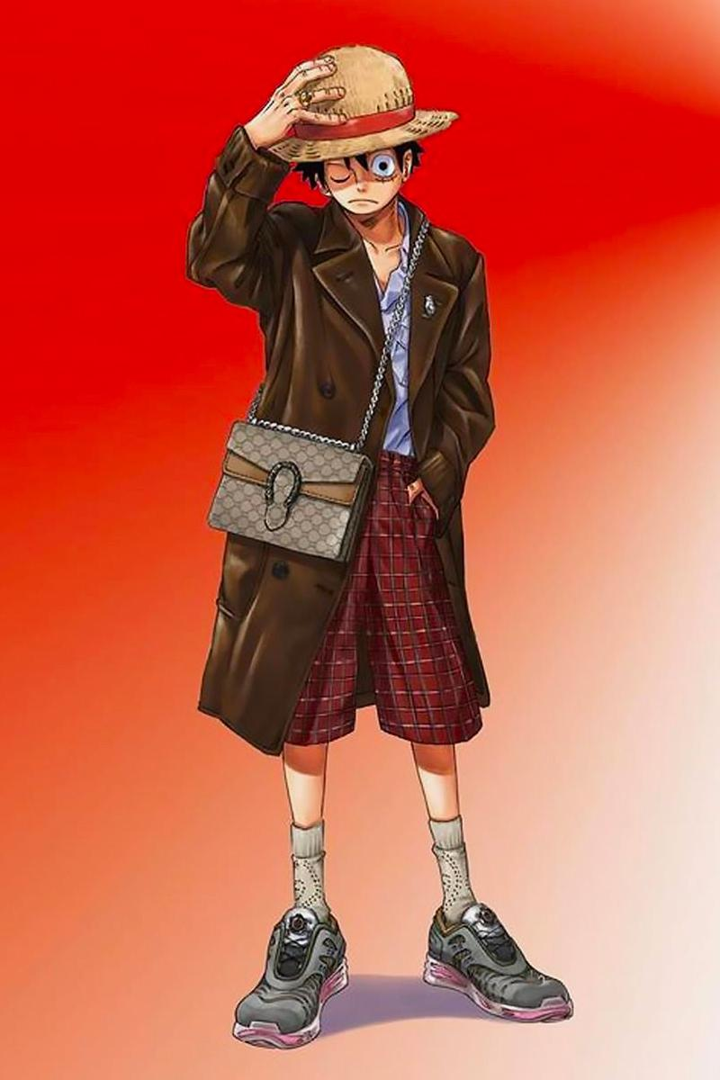 one piece gucci, <b> Gucci x One Piece just dropped the most fire luxury lookbook </b>