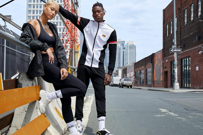 ellesse Fall/Winter 2020 Campaign Collection Release Information Mens Womens Ski Tennis Gym Clothes Shoes Denso Padded Tanker Mid Peak Quilted Turbo Track Pant Tracksuits Tops Outerwear Retro OG Leonardo Servadio