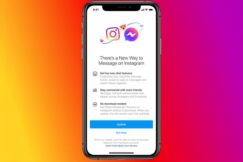 Facebook Integrate Messenger Instagram Direct Messages WhatsApp
