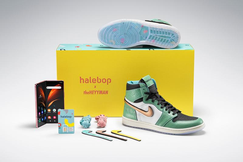 Halebop Unveils Exclusive Sneaker Collaboration With theheyyman Streetwear Air Jordan 1 Samsung Galaxy Fold Sweden