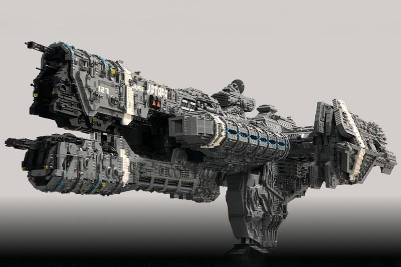 halo combat evolved infinite xbox microsoft bungie fan gamer player lego bricks custom design unsc katara frigate space ship