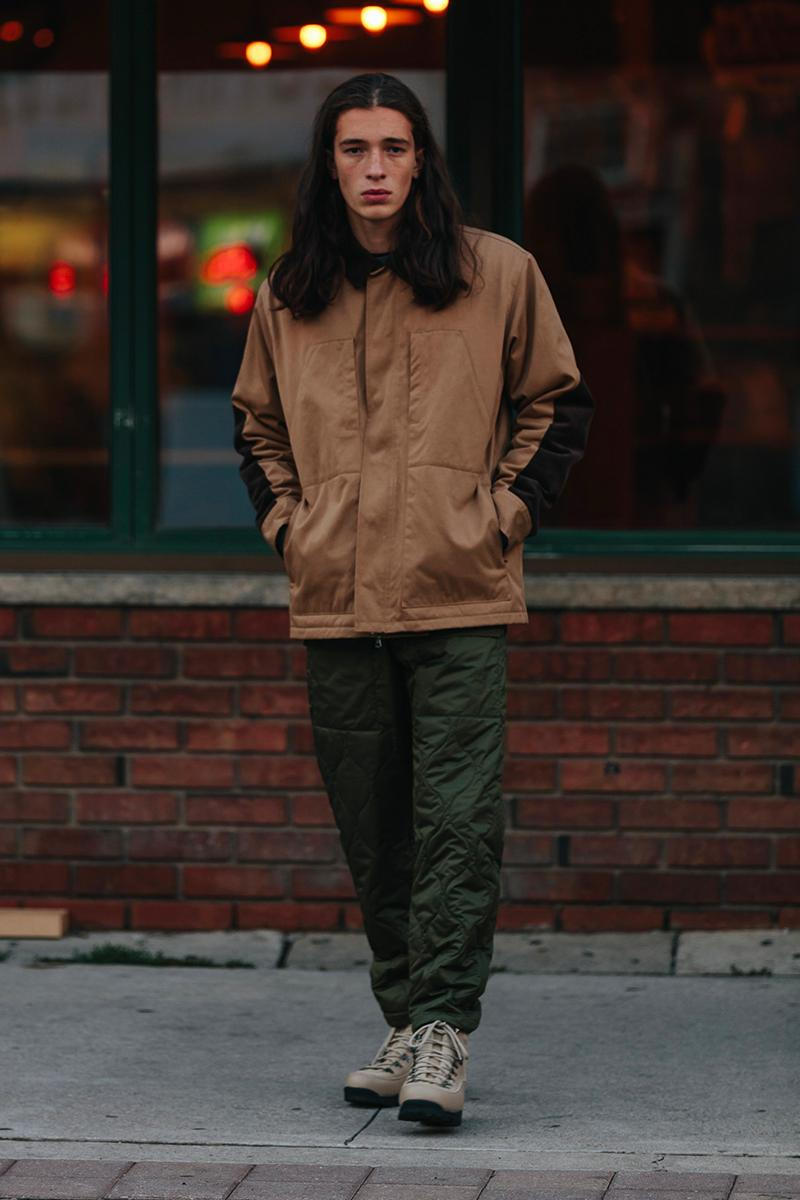 HAVEN Fall 2020 Editorial menswear streetwear winter garments jackets bomber parka shirts hoodies pants trousers
