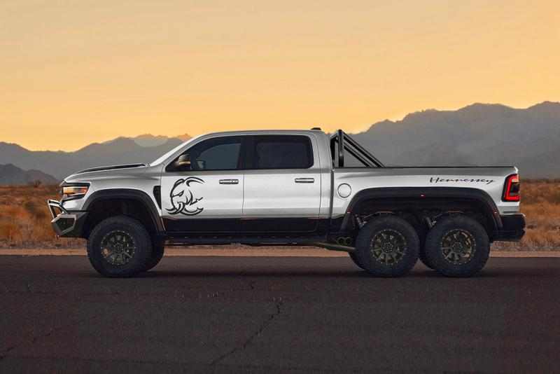 "MAMMOTH Hennessey Unveils Outrageous Ram 1500 TRX 6X6 ""Mammoth"" Hellephant crate engine power FCA HPE Trucks off-road trucks"