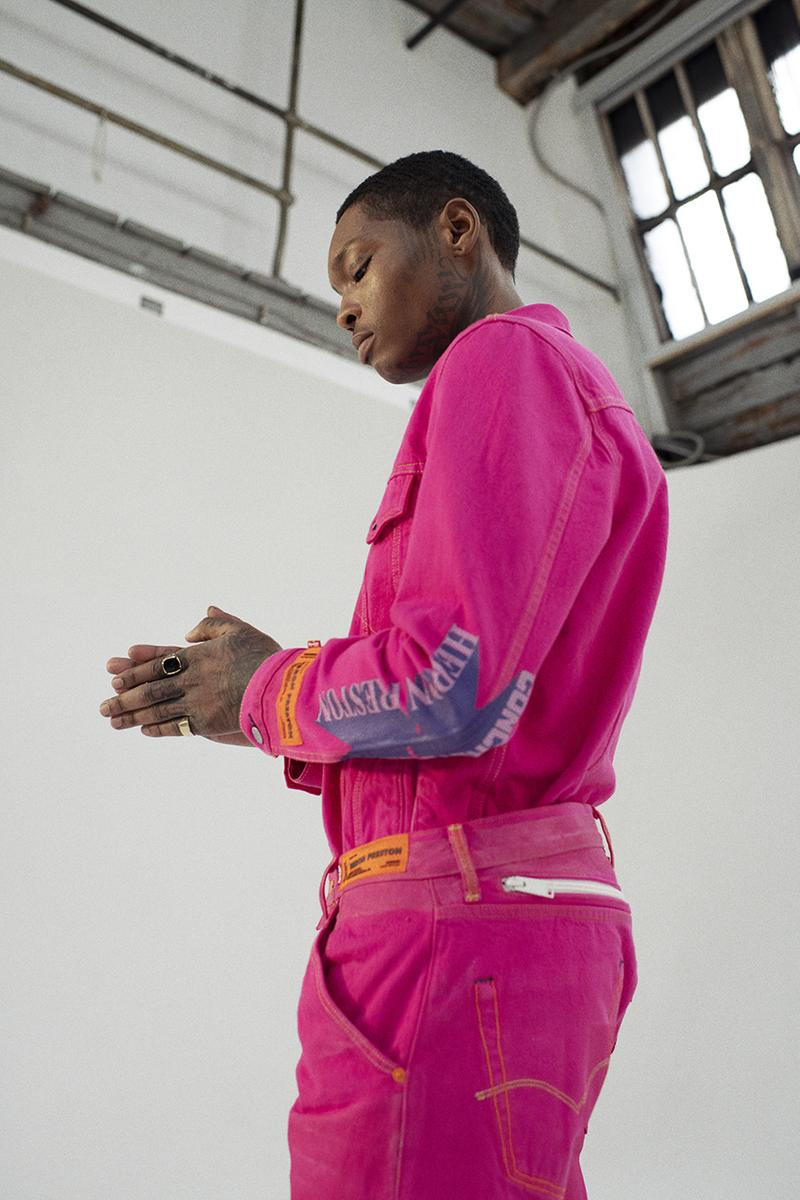 """Heron Preston x Levi's """"MISTAKES ARE OK"""" Collaboration interview spring summer 2020 ss20 501 jean release date info buy trucker type 2 jacket"""