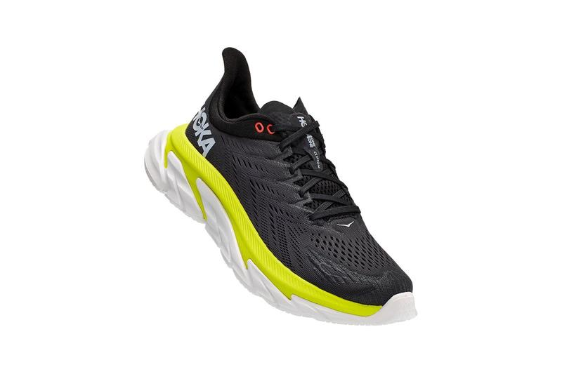Hoka one one evening primrose black yellow running trainers anthracite where to cop best running trainers with cushioning