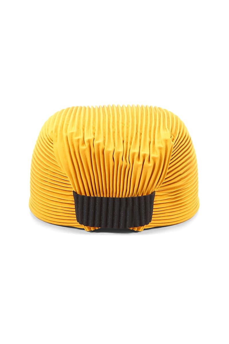 HOMME PLISSÉ Issey Miyake Two-Tone Baseball Cap LN-CC Hats FW20 Fall Winter 2020 Cosy Headwear Brown Burnt Orange Pleats Pleated