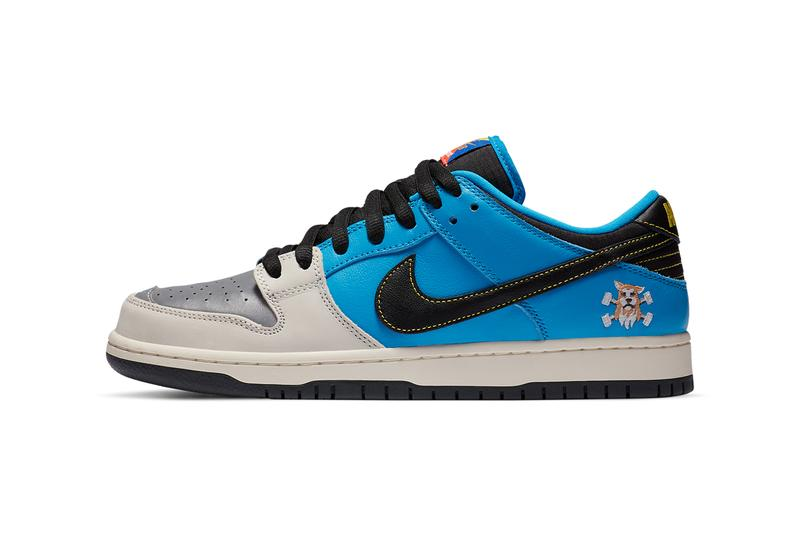 instant skateboards nike sb dunk low silver tan blue black dog wolf cz5128 400 official release date info photos price store list buying guide