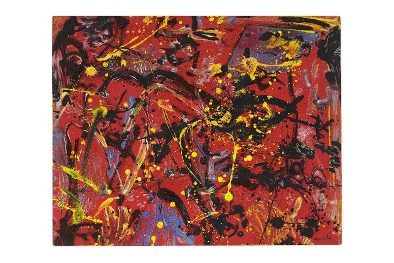 christies jackson pollock red composition drip painting abstraction