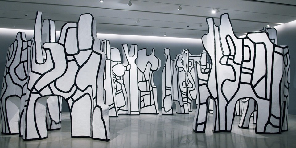 Pace Gallery Displays Jean Dubuffet's Monolithic 'Le cirque' Installation