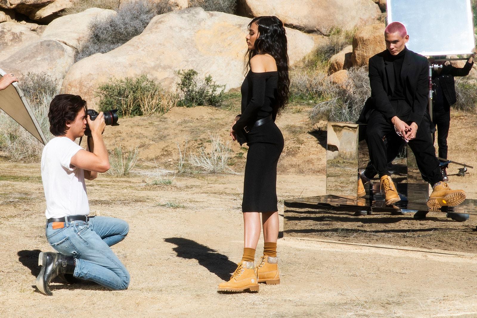 Jimmy Choo x Timberland Swarovski Footwear Collection Kith Boot Wheat Black