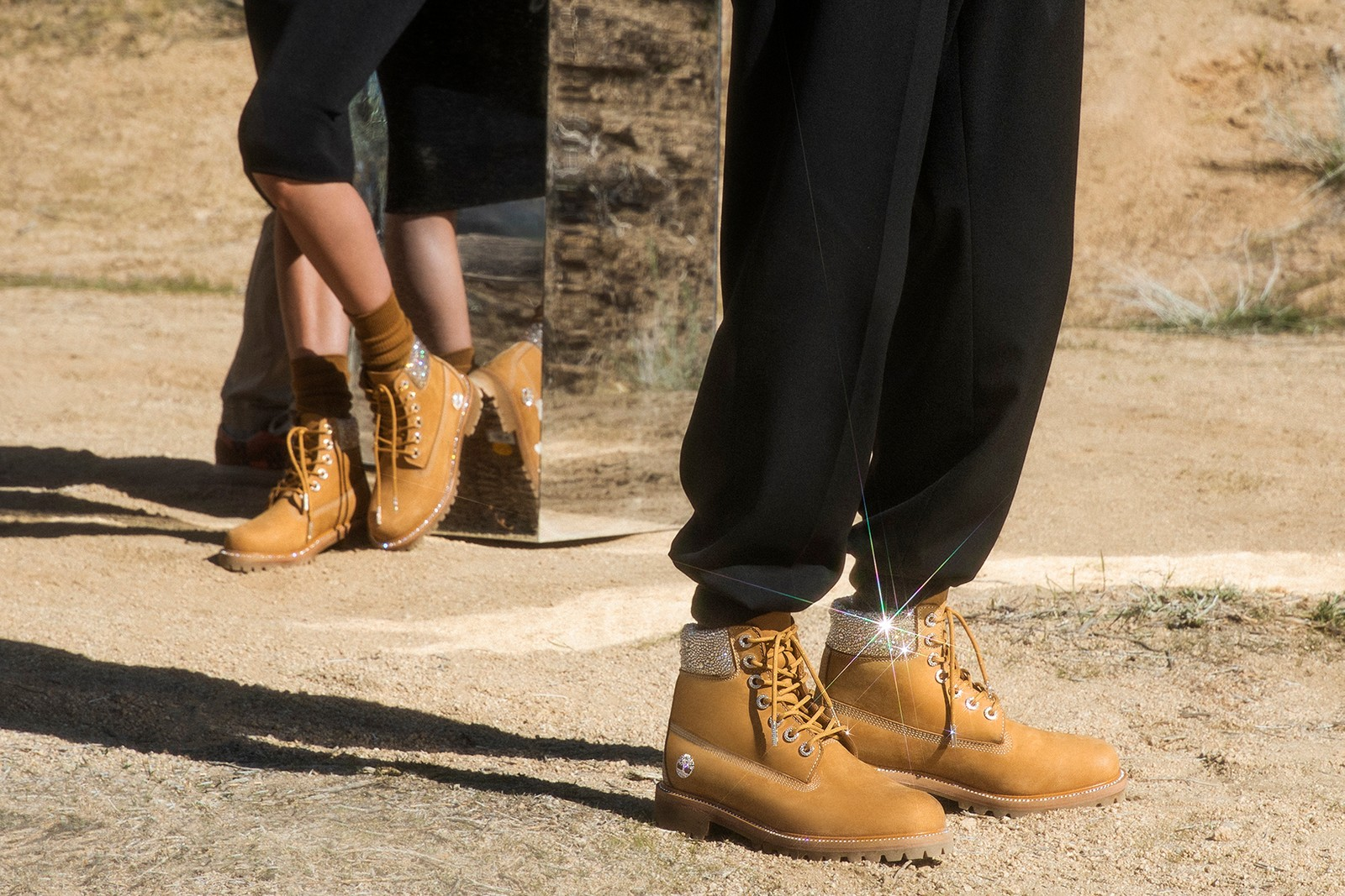 Jimmy Choo x Timberland Swarovski Footwear Collection Kith Boot Wheat Black