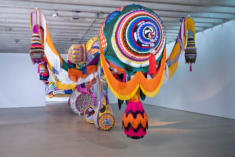 joana vasconcelos yorkshire sculpture park details look inside around outdoors indoors underground gallery