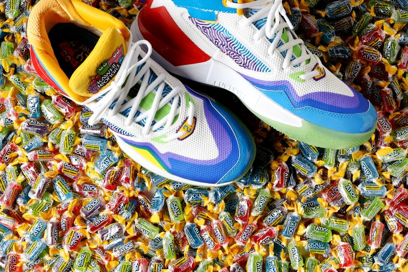 "Jolly Rancher x New Balance KAWHI Collection NB 327 480 Slide Kawhi Leonard Basketball ""Original Flavors"" ""Blue Raspberry"" NBA 2K21 Game Sneaker Collaboration Release Information Drop Date"