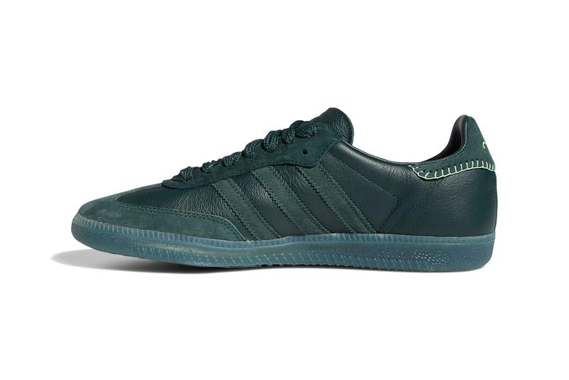 "Jonah Hill x adidas Originals Samba ""Green Night / Mineral Green / Ecru Tint"" ""Maroon / Noble Maroon / Ecru Tint"" FW7458 FW7456 Sneaker Collaboration Release Information Drop Date Closer Look First Announcement OG Retro Three Stripes"