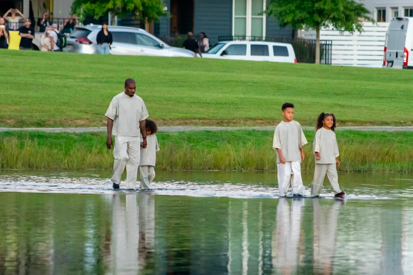 Kanye West Walks On Water In The ATL!? [VIDEO]