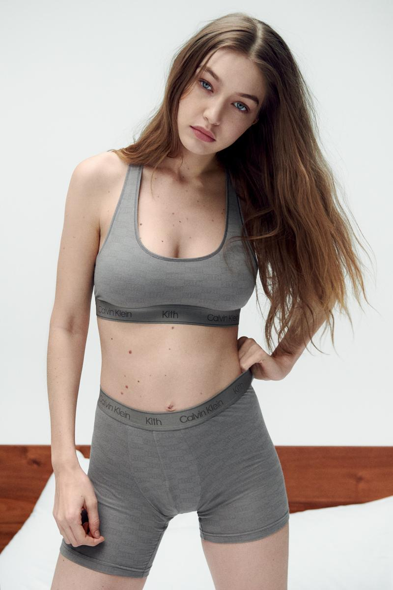 KITH for Calvin Klein Campaign Collection Imagery Cass Bird Gigi Hadid Underwear Lookbook Ronnie Fieg Editorial New York 1996 Short Film Mens Boxers T-Shirts Hoodies Jumpers Collaboration HYPE