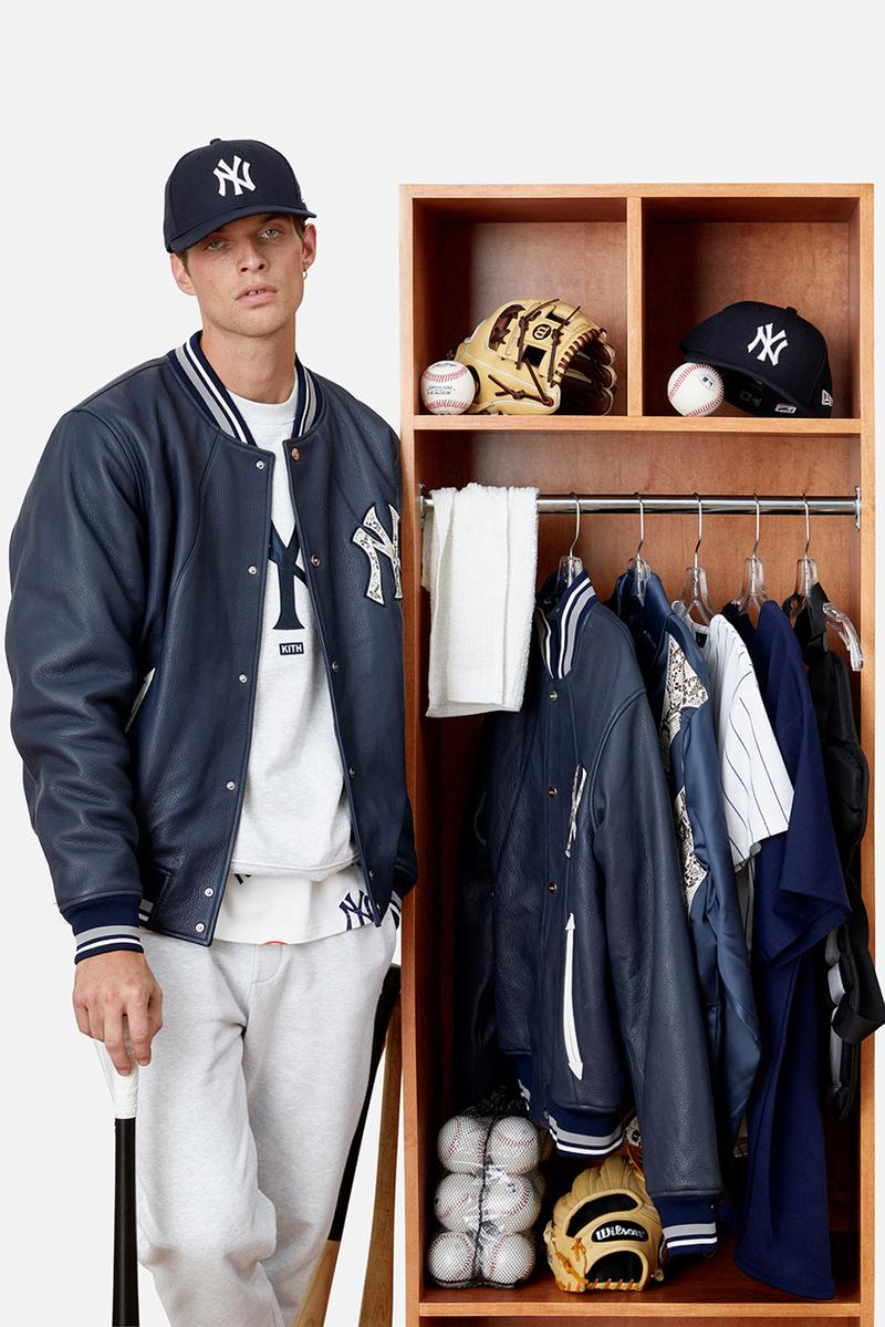 kith ronnie fieg mlb major league baseball new york yankees los angeles dodgers jacket tee hats shirts sweatshirts official release date info photos price store list buying guide