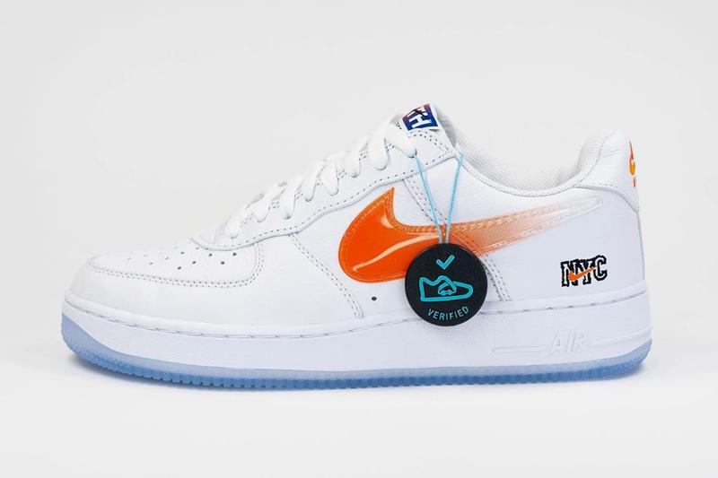 kith nike sportswear air force 1 low nyc new york city white brilliant orange rush blue ronnie fieg official release date info photos price store list buying guide