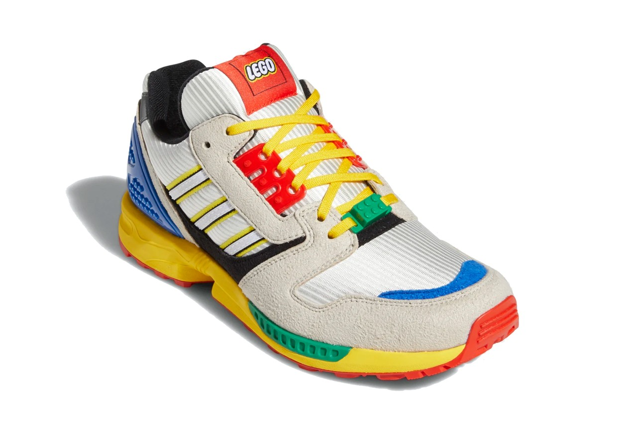 lego adidas originals zx 8000 a to yellow bliss cloud white green blue red black FZ3482 official release date info photos price store list buying guide