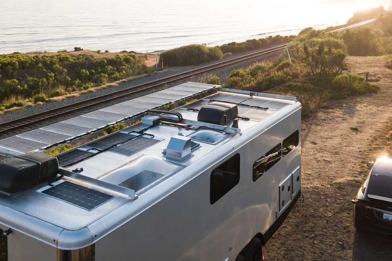 living vehicle 2021 rv mobile home premium electric vehicle charger EV solar power