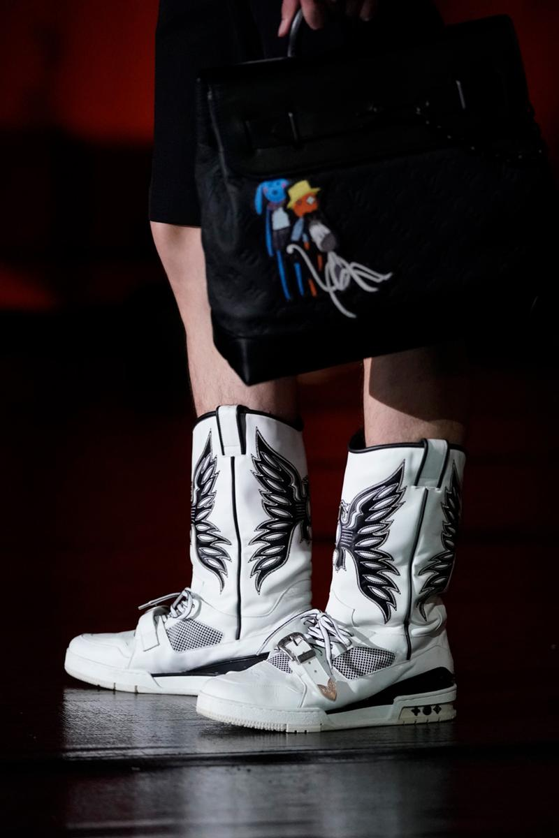louis vuitton virgil abloh cowboy boot lv 408 sneaker trainer shoe official first look release date info photos store list buying guide tokyo japan runway show design