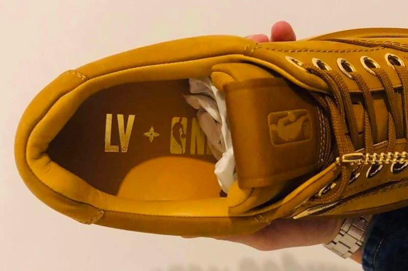 Louis Vuitton NBA Collaboration Leak News Virgil Abloh Parisian LV Monogram footwear boots shoes