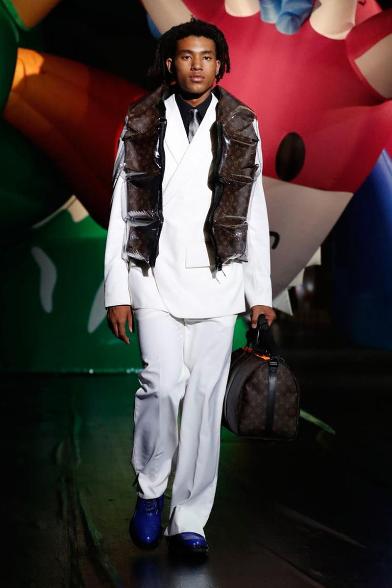 Louis Vuitton SS21 Runway Show Tokyo, Virgil Abloh Response criticism imitation copy walter van beirendonck teddy bear show notes spring summer 2021 caleb femi benji b collection presentation video watch takashi miike