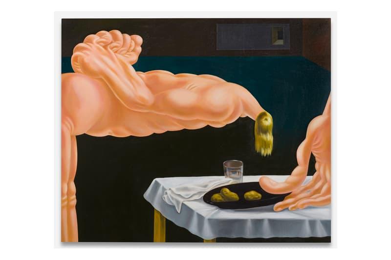 """Louise Bonnet """"The Hours"""" Gagosian Exhibition new oil paintings 'Très Riches Heures du Duc de Berry'"""