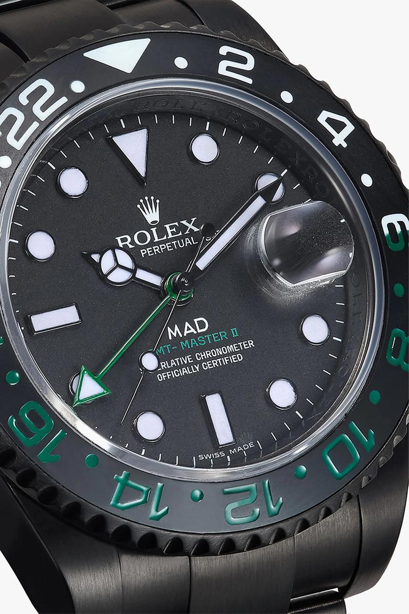 MAD Paris Rolex GMT Master II Datejust 41mm Custom Watches Wristwatch Timepiece Luxury Accessories Matte Black Green Red Face Dial Time