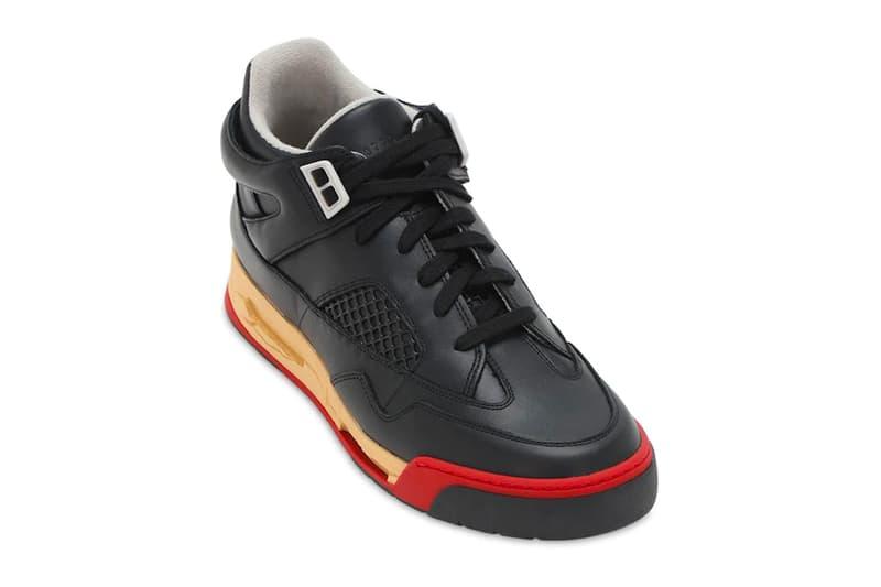 Maison Margiela 35mm DDSTCK Leather Mid-High Sneaker Black Red Release Info Buy Price LUISAVIAROMA Jordan Air Brand 4 bred