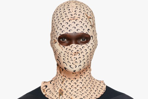 Marine Serre Crafts Beige Balaclava With Recycled Nylon