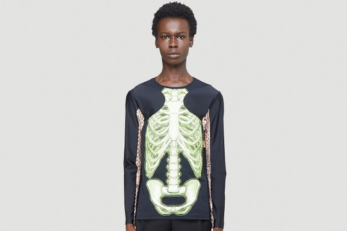 Marine Serre's Skeleton and Crescent Moon Long-Sleeve T-Shirt Has You Sorted for Halloween