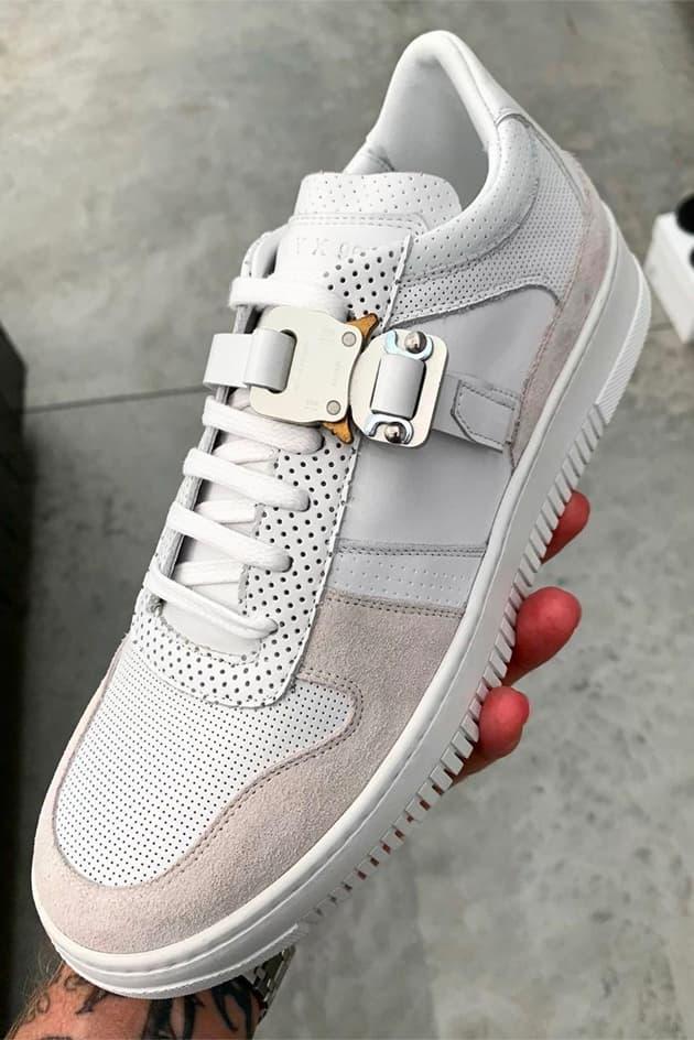Matthew M Williams ALYX signature sneaker Teaser af-1 Footwear Shoes Cobra Buckle
