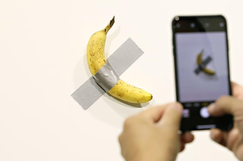 maurizio cattelan banana artwork guggenheim comedian