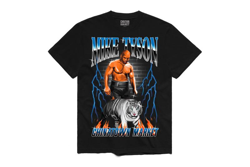 Mike Tyson x Chinatown Market Capsule Collection boxing LA Iron Mike Tiger Shots Graphic Tees T-Shirts
