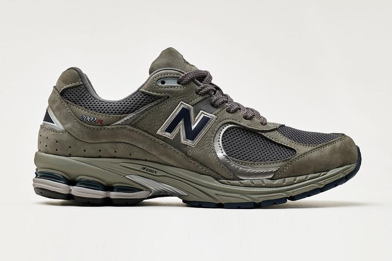 New Balance 2002R Grey Black revived classic running silhouette nubuck leather mesh panel uppers ABZORB technology N-ergy cushioning sole unit