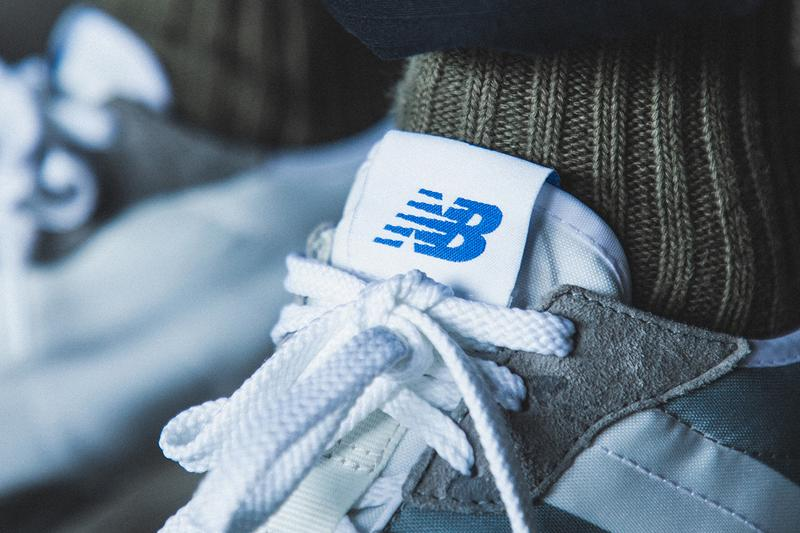 """New Balance 327 """"Gray/White"""" Re-Release Raffle Stock HBX On Foot Images Sneaker Release Information Split Pack Leather Suede Nylon 70s Inspired Vintage Retro Runner"""