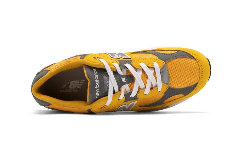 New Balance 992 sneaker colorways yellow grey jjjjound release information autumnal orange