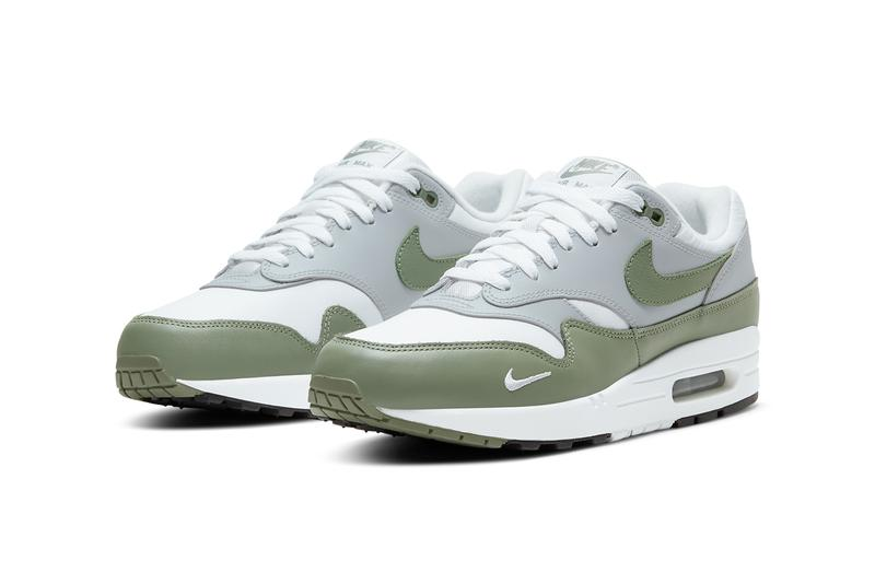nike sportswear air max 1 spiral sage mystic date white gray green brown db5074 100 101 official release date info photos price store list buying guide