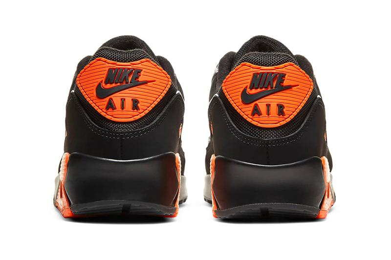 nike air max 90 safari black white safety orange details DA5427-001 release information buy cop purchase hanon