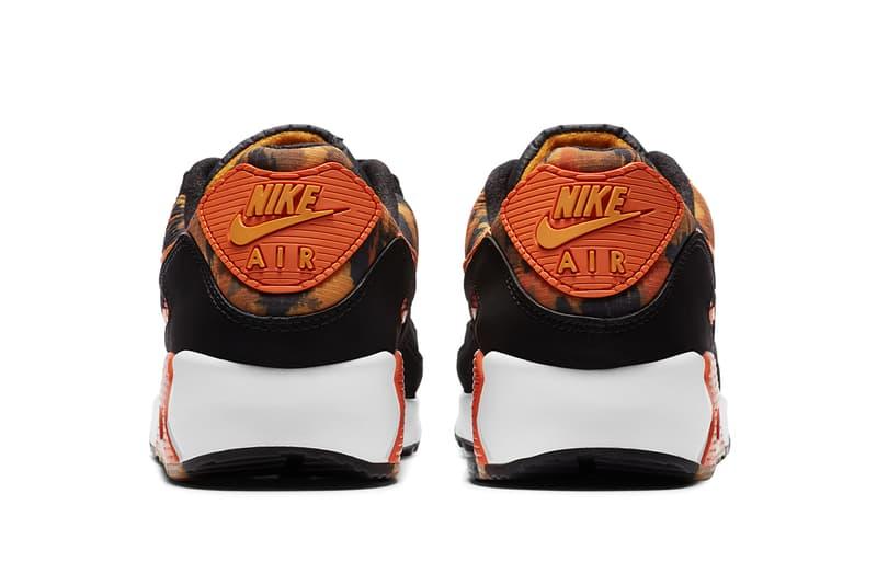 nike sportswear air max 90 starfish orange camo black white kumquat yellow CZ7889 001 official release date info photos price store list buying guide