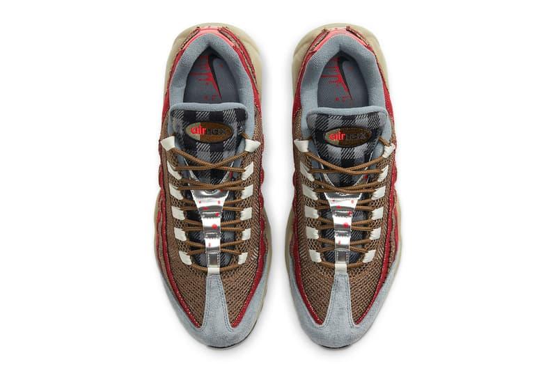 Nike Air Max 95 Freddy Krueger Official Look Release Info DC9215-200 Date Buy Price Velvet Brown University Red Team A Nightmare on Elm Street