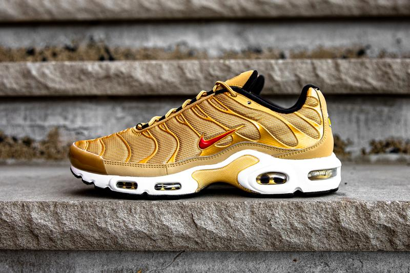 "Nike Air Max Plus ""Metallic Gold"" ""Gold Bullet"" Foot Locker Inc. Champs Sports Eastbay Sneaker Release Information 2017 2018 Swoosh Hype Footwear Drop Date Exclusive"