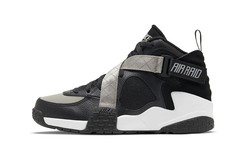 nike sportswear basketball air raid black gray white dc1412 001 2020 tinker hatfield official release date info photos price store list buying guide