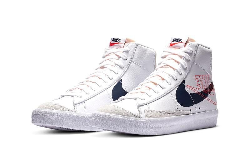 "Nike Blazer Mid '77 ""White/Sail/Summit White/Midnight Navy"" DA4651-100 OG Basketball Sneaker Footwear Release Information Closer Look Double Swoosh Logo Tick"