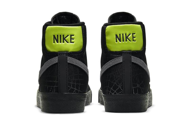 Nike Blazer Mid Spider Web Release dc1929-001 Date Info Buy Price Halloween Black 3M Reflective
