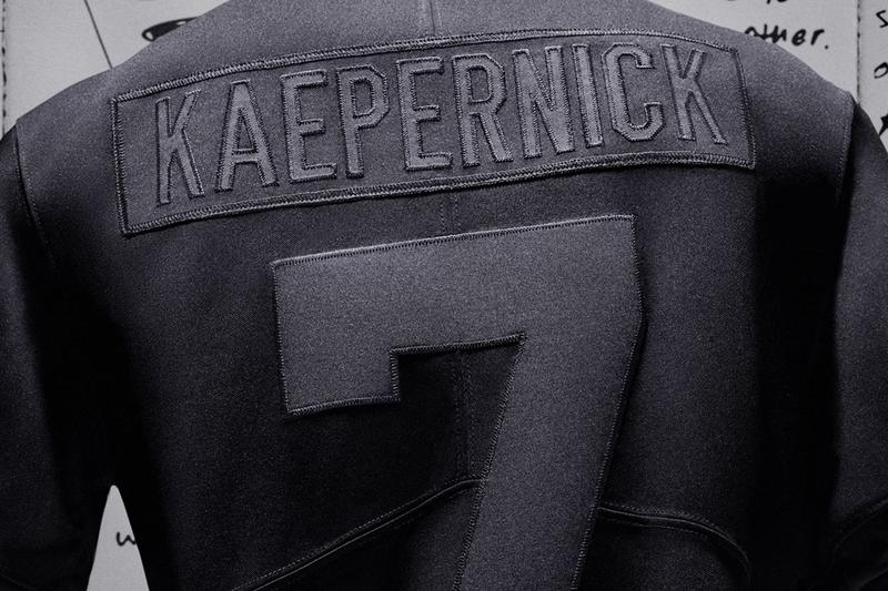 nike sportswear football colin kaepernick true to 7 jersey all black CN5314 011 kneeling nfl social justice black lives matter quarterback official release date info photos price store list buying guide