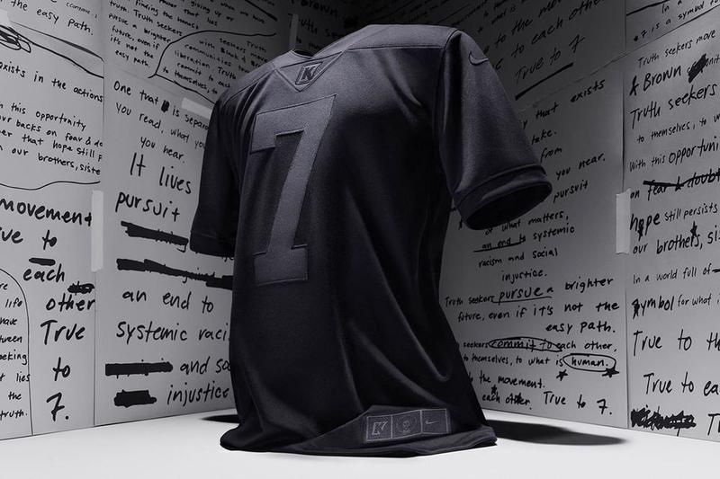 "Colin Kaepernick's Nike ""True to 7"" Jersey Sells Out in Under a Minute  NFL BLM BLACK LIVES MATTER Football sports Colin Kaepernick Icon Jersey 2.0 swoosh"