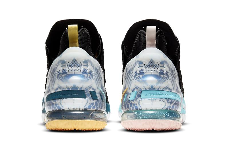 nike basketball lebron james 18 reflections db7644 003 black elegant topaz dark blue bleached light green official release date info photos price store list buying guide